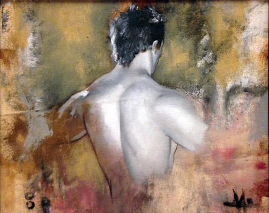 """Zach"" 2011, 14"" x 12"" oil and graphite on canvas"